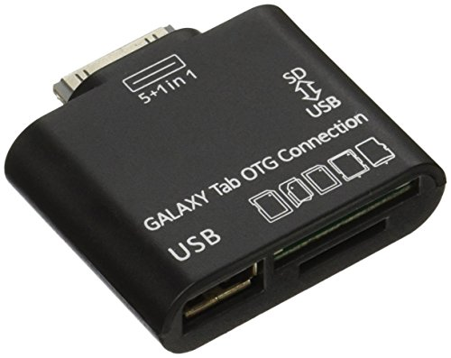 JEXON USB OTG Connection Kit and Card Reader for Samsung Galaxy Tab 10.1 P7500 P7510 Black (SANOXY_GTAB-OTG) (Usb Tab Connection Kit Galaxy)