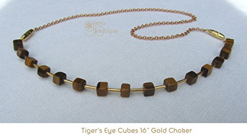 GemsBeautique Tiger's Eye Cubes 16