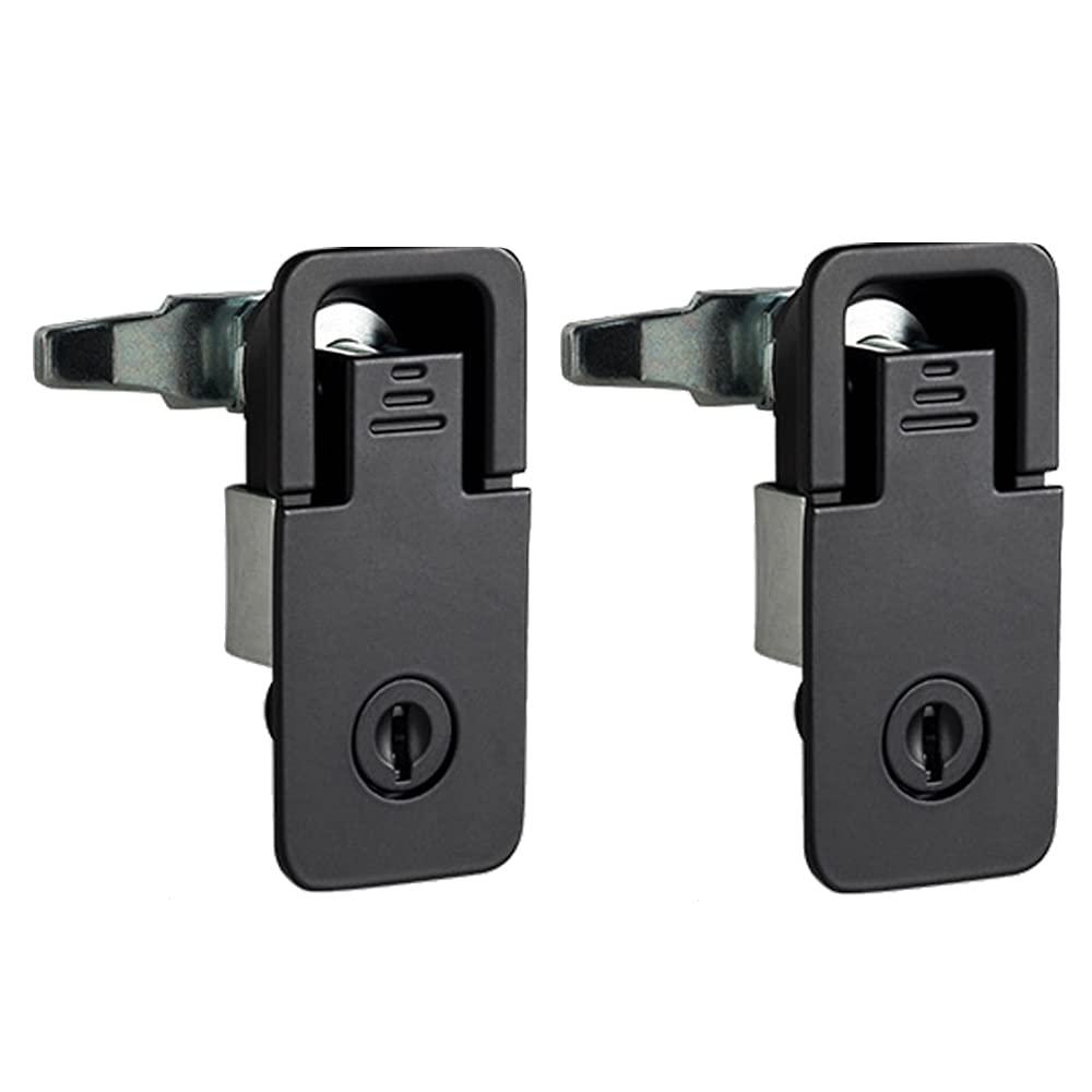 2X Zinc Alloy Adjustable Compression Door Lock is Suitable for Door Thickness 1-3.5mm Horse Box RV Trailer Yacht Desk Cabinet Wall Cabinet (B)