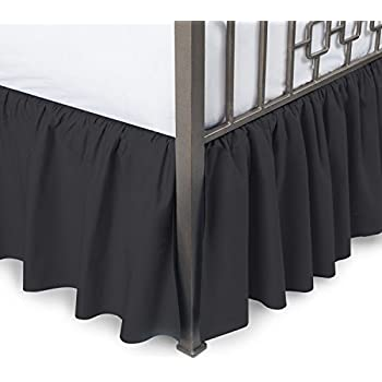 Amazon Com Harmony Lane Ruffled Bed Skirt Split Corners Full