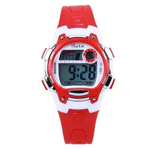 HIwatch Tuddler Watch for Girl LED Digital Water-resistant Sport Wrist Watch for Kid