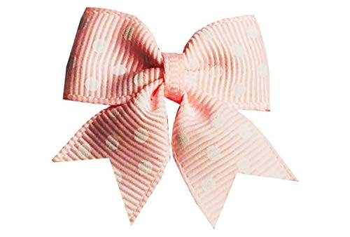 - TruStay Clip - Butterfly baby hair bows - Best No Slip Barrette for Fine Hair (C3-Pink Swiss Dots)