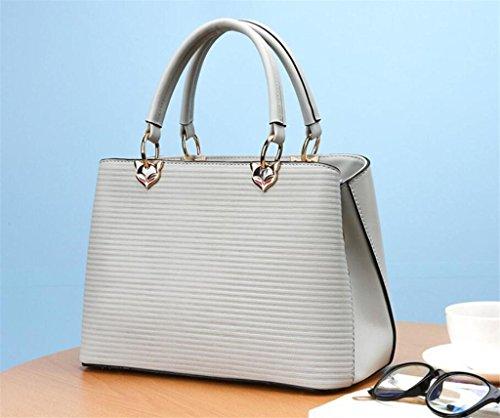 Simple Cuir en Grande Bag capacité grey Trois PU Shell Sac Travail Sac Sac Dame à Main Shopping Messenger Unique à bandoulière SHOUTIBAO Couleurs qRnH7Pw1x