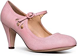 Amazon.com: Pink - Pumps / Shoes: Clothing Shoes &amp Jewelry
