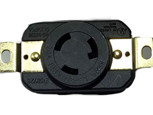 Powertronics Connections NEMA L5-20R Locking Receptacle 120V, 20A by Powertronics Connections (TM)