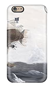 diy zhengNew Arrival Premium 6 Case Cover For Iphone (pirate Blimp Flying Over The Frozen Sea )