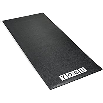 Heavy Duty Treadmill Mat with Unique Non-Slip Edges High Density PVC Exercise Equipment Matting Noise Reducing Protective Floor Mats for Hardwood Carpet Vinyl Tile - 70 x 31 Inches