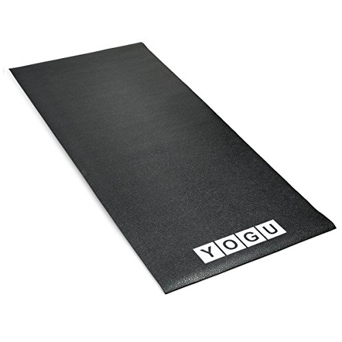 YOGU Exercise Equipment Treadmill Mat Heavy Duty Thin Strong Home Gym Protective Flooring Mat 2.5 x 6 Feet ... (Thin)