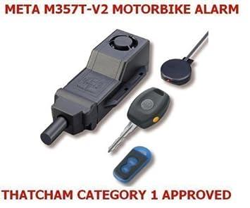 META M357T-V2 THATCHAM APPROVED CAT 1 BIKE MOTORBIKE SCOOTER ALARM on