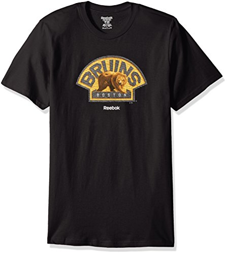 Mascot Adidas Large T-shirt (NHL Boston Bruins Men's High End Mascot Short Sleeve Tee, Medium, Black)