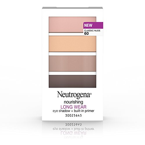 Neutrogena Nourishing Long Wear Eye Shadow + Built-In Primer, 60 Classic Nude, .24 Oz.