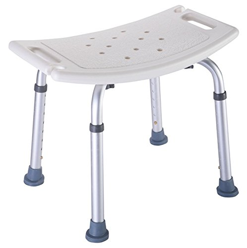 8 Position Height Adjustable Bath Shower Medical Chair Stools Bench Bathtub Stool Polyethylene Seat Slip Resistant Elderly And Handicapped People Heavy Duty Durable Aluminum Frame Easy To Assemble