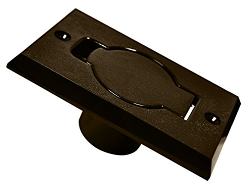 central-vacuum-cleaner-auto-inlet-door-face-plate-brown-plastic-assembly