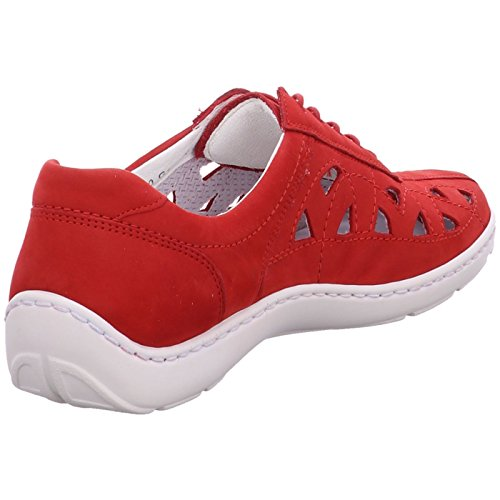Women's H496003 red UK 3 Up Lace Flats 191222 Size Waldläufer HOxdqO