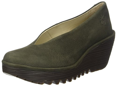 FLY London Damen Yaz Pumps Grün (Seaweed)