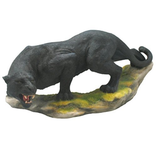 13.25 Inch Prowling Black Panther Statue Wild Animal Sculpture Figure (Sculpture Wild Animal Statue)