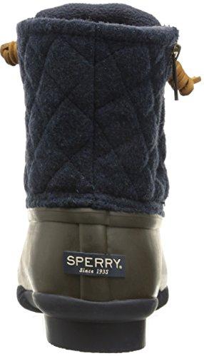 Sperry Top-sider Da Donna In Lana Trapuntata Con Imbottitura A Pioggia, Colore Marrone / Blu Navy
