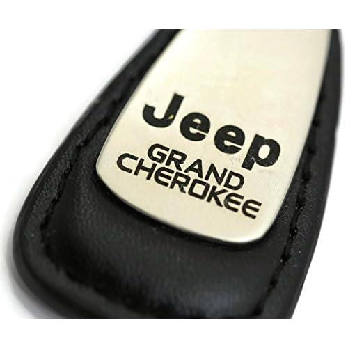 dantegts Jeep Grand Cherokee goutte en cuir Porte-clés Anneau porte-clés Porte-clés, noir