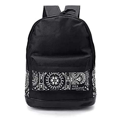 0335aaafe1bc Backpack School - Women Men Canvas Backpack Shoulder Bag Travel Rucksack  College Bookbag School Bags Backpacks