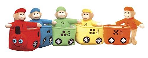 Monkey Train - CP Toys Velour Bilingual Play & Learn Monkey Train for Kids