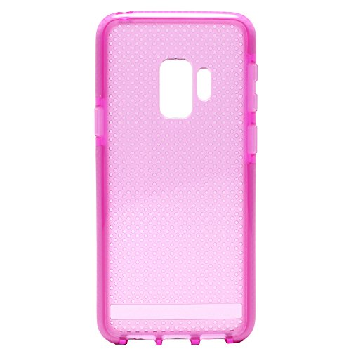 GummyCase Samsung Galaxy S9+ Plus Silicone Dot Anti-Slip Solid Color Mesh Slim Thin Clear Transparent Grip Soft TPU Hybrid Protective Case Cover for Galaxy S9+ Plus, Hot ()