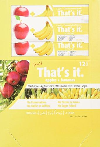 Thats It Fruit Bar  Apple And Banana  1 2 Ounce   12 Ct