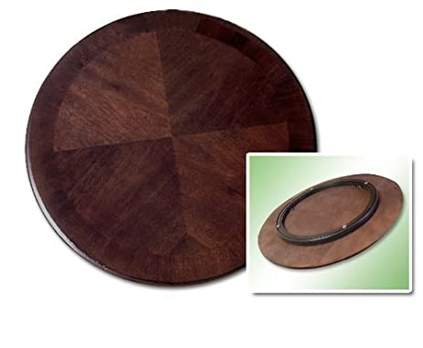 Perfect 22u0026quot; Walnut Solid Wood Lazy Susan Turntable   Great For The Kitchen, RV  Or