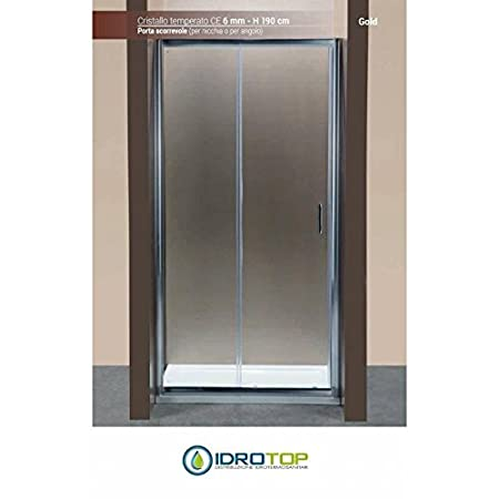Sliding Shower Door Width: 120 cm Ponsi Gold Series in Tempered ...