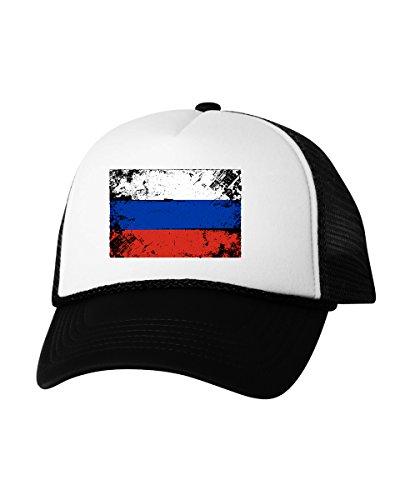 Soccer Trucker Hat - Vizor Russia Flag Hat Russia Trucker Hat Russian Hat from Russia Soccer Gifts Black One Size