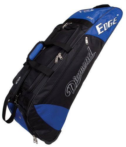 Diamond Sports Wheeled Bat Bag (36 x 10 x 12-Inch, Royal)