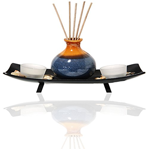 AI·X·IANG Tea Light Candle Holder Fragrance Essential Oil Burner,Great Decoration for Living Room, Balcony, Patio, Porch and Garden, by AI·X·IANG