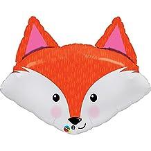 Qualatex 33 Inch Fabulous Fox Design Foil Balloon (One Size) (Orange/White)