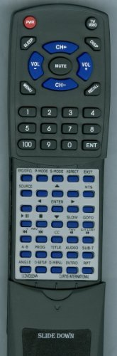Replacement Remote Control for CURTIS INTERNATIONAL LEDVD1975A2, LCDVD2234A, LCDVD199A2, LCDVD2454A by Redi-Remote