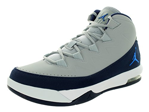 Jordan Nike Heren Air Deluxe Wolf Grijs / Soaring / Mid Marine / White Basketbalschoen 8.5