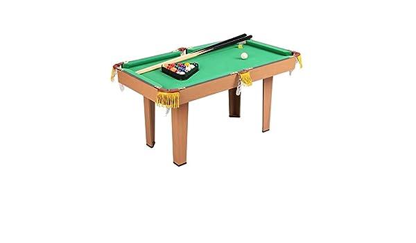 Combo Table Billar Juego de Mesa de Billar Mesa for niños y Adultos Mesa de Billar Mesa Set con Pelotas de Juego, Palillos, Tiza, Pincel y triángulo de 49