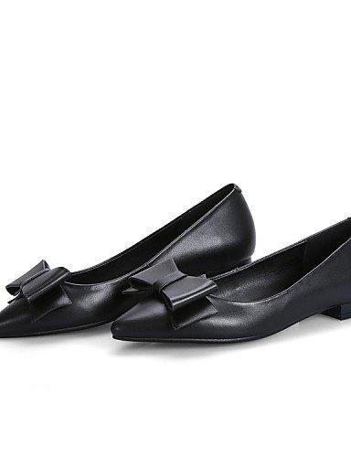 PDX/ Damenschuhe - Ballerinas - Outddor / Büro / Lässig - Leder - Flacher Absatz - Spitzschuh / Modische Stiefel - Schwarz / Rosa / Beige , black-us6.5-7 / eu37 / uk4.5-5 / cn37 , black-us6.5-7 / eu37