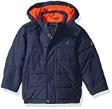 Nautica Baby Boys Signature Puffer Jacket with Storm Cuffs, Sport Navy, 12 Months