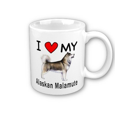 I Love My Alaskan Malamute Coffee Mug