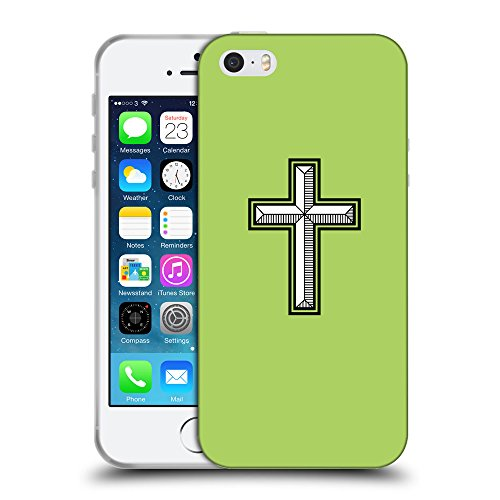 GoGoMobile Coque de Protection TPU Silicone Case pour // Q08030628 Croix chrétienne 28 poule // Apple iPhone 5 5S 5G SE