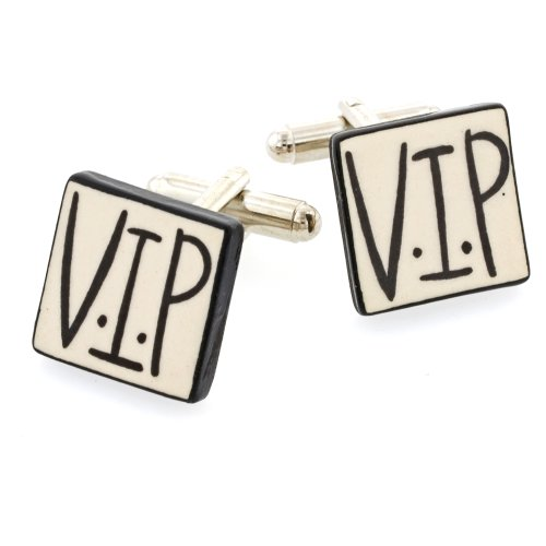 Ceramic VIP Cufflinks. Made in England