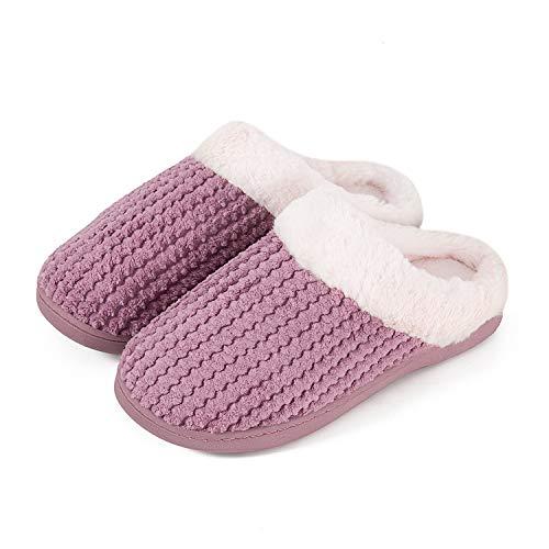Interno Da Casa Donna Esterno hst Morbido Pantofole Comode Caldo Scarpe Cotone Schiuma Rosa Inverno Memoria Antiscivolo Peluche Per 16AqXxH