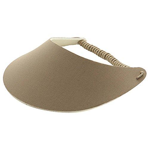 MG Women's Cotton Solid String Sun Visor Hat ()
