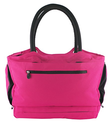 CoolBag Gen 2 Locking Anti-Theft Travel Tote With Insulated Cooler Compartment (Paradise Island Pink) by CoolBag
