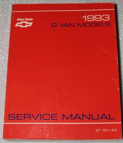 1993 Chevrolet G Van Models Factory Service Manual (Vandura, Rally Van, Magnavan)