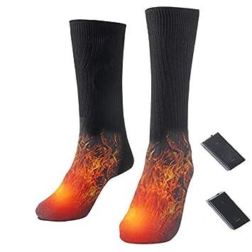 Konesky Calcetines térmicos eléctricos Calentadores térmicos Que Funcionan con Pilas Calentadores térmicos de pies Calentadores térmicos para Hombres y ...