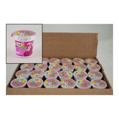 Yoplait Trix Raspberry Rainbow Yogurt, 4 Ounce -- 48 per case.