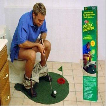 Amazon.com: baño Potty Putter Golf juego Mini Golf Juguetes ...