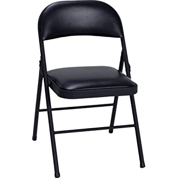 Nice Cosco Vinyl 4 Pack Folding Chair, Black