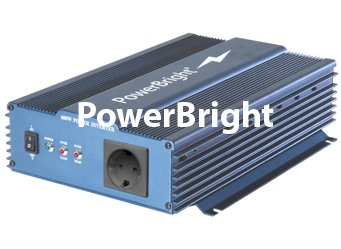 PowerBright EPS600-12 220V/50Hz 600W Pure Sine Wave Power Inverter, 600W continuous power, 650W (20 min) continuous power, 1000W peak power, Anodized aluminum case provides durability, Built-in Cooling Fan