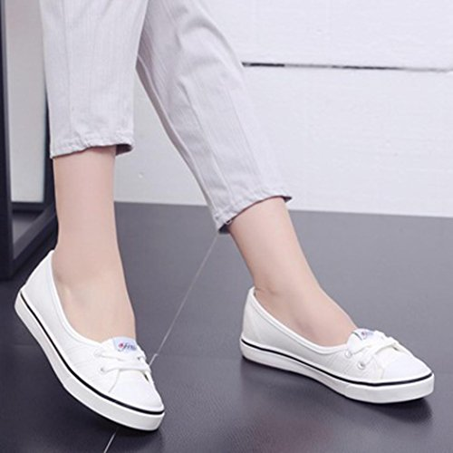 8b8a05be8eb Sikye Flats Loafers Women Fashion Canvas Breathable Round Toe Flats Slip  Shoes on sale